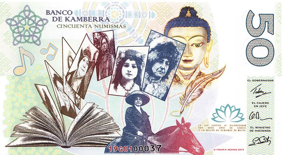 Alexandra David-Néel - 50 numismas